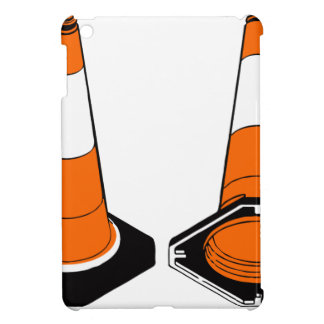 orange black  Traffic cones safety pylons iPad Mini Covers