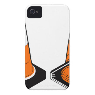 orange black  Traffic cones safety pylons iPhone 4 Covers