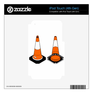 orange black  Traffic cones safety pylons iPod Touch 4G Decal