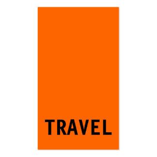 Orange Black Travel Agent Business Card