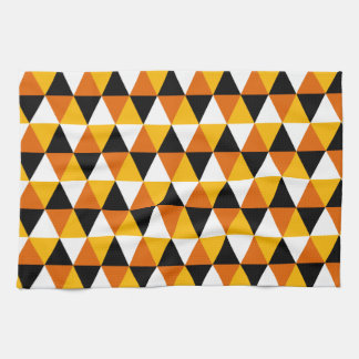 Orange & Black Triangle Pattern Kitchen Towel