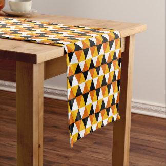 Orange & Black Triangle Pattern Table Runner