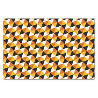 Orange & Black Triangle Pattern Tissue Paper