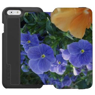 Orange Bloom and Purple Flowers Phone Case Incipio Watson™ iPhone 6 Wallet Case