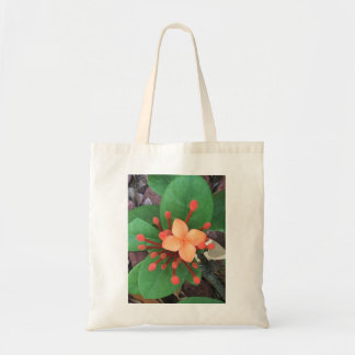 Orange blooming Ixsora Tote Bag