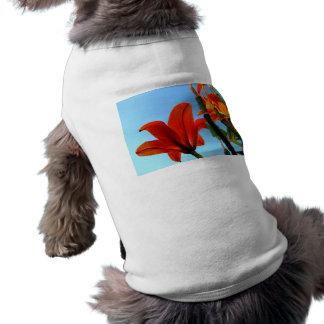 Orange Blossom Sleeveless Dog Shirt