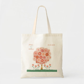 Orange Blossom Tree Wedding Favor Gift Bag