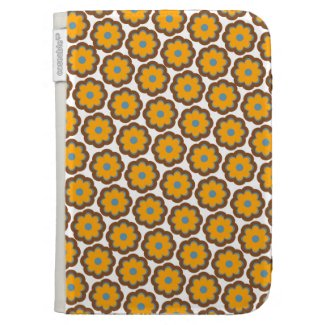 Orange blossoms - retro colors kindle keyboard covers