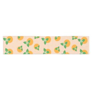 Orange Blossoms Short Table Runner