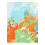 Orange Blue Abstract Art
