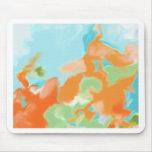 Orange Blue Abstract Art Mousemats