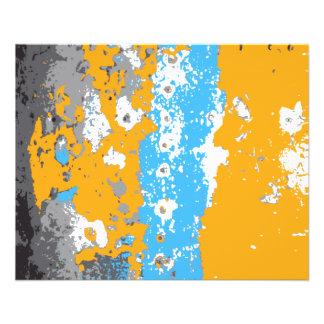 Orange, Blue and Gray Abstract Graphic. Flyer