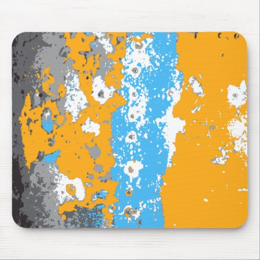 Orange, Blue and Gray Abstract Graphic. Mousepads