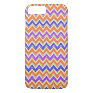 Orange Blue and Purple Aztec Chevron Stripes iPhone 8 Plus/7 Plus Case