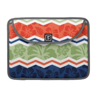 Orange, Blue, and Sage Green Tropical Pattern MacBook Pro Sleeves