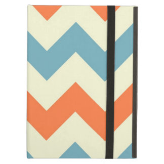 Orange blue chevron zigzag geometric zig pattern iPad air cover