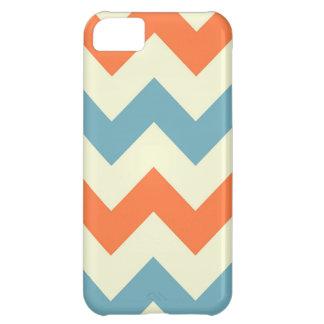Orange blue chevron zigzag stripes zig zag pattern iPhone 5C case