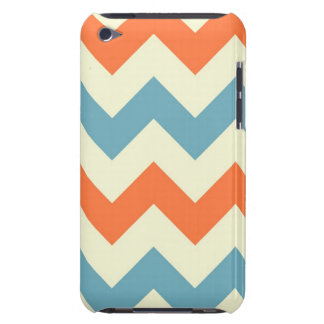 Orange blue chevron zigzag stripes zig zag pattern iPod touch cover