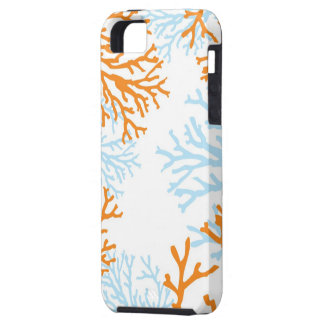 Orange & Blue Coral iphone case