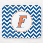 Orange & Blue Florida F Logo Mousepad