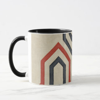 Orange & Blue Graphic Lines Mug