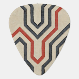 Orange & Blue Graphic Lines Plectrum