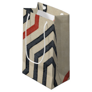 Orange & Blue Graphic Lines Small Gift Bag