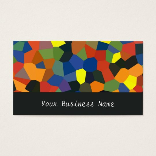 Orange, Blue, Green, Black Abstract Business Card