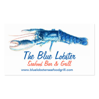 Orange & Blue lobster seafood grill business card