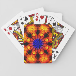 Orange&Blue Mandala Playing Cards