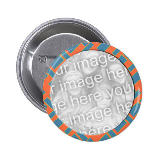 orange blue photo frame pins
