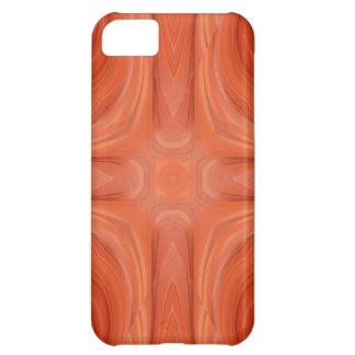 Orange Blue stylish wood pattern iPhone 5C Case