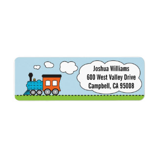 Orange/Blue Train Address Labels