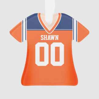 Orange/Blue/White Football Jersey