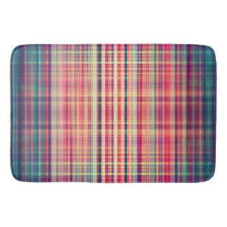 Orange blurred stripes pattern bath mat