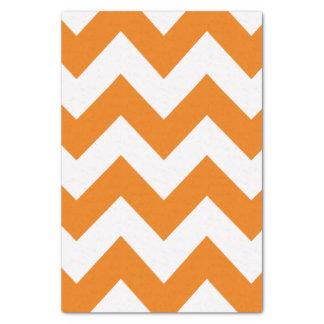 Orange Bold Mod Chevron Tissue Paper
