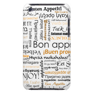 Orange Bon appetit in different languages Barely There iPod Covers