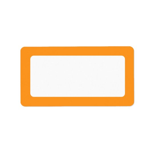 Orange border blank address label