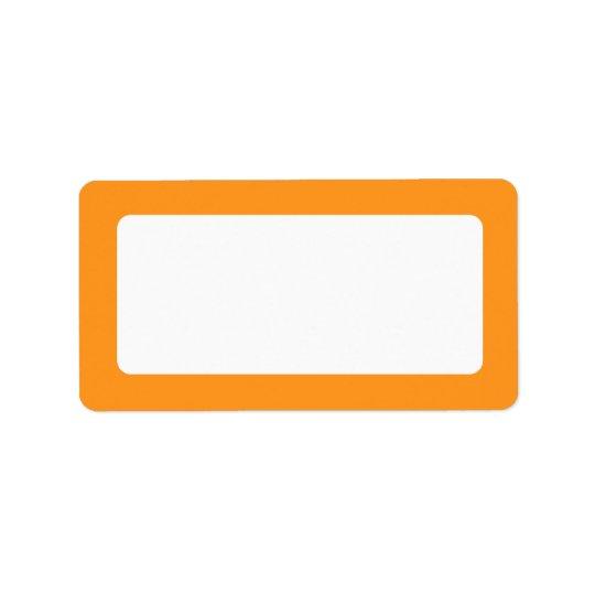 Orange border blank label