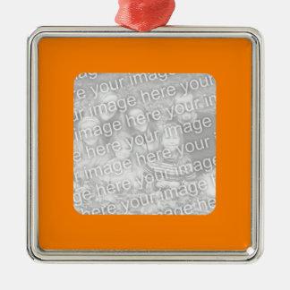 Orange Border Photo Ornament