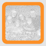 Orange Border Photo Sticker