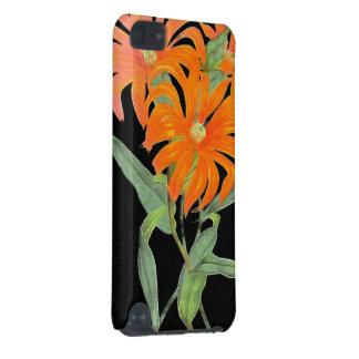 Orange Botanical Vintage Flowers iPod Touch (5th Generation) Cases