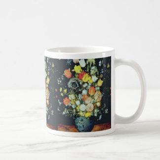 Orange Bouquet de Fleurs dans un Vase Bleu Jan Br Mugs