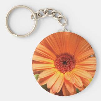 Orange Bouquet Flower Basic Round Button Key Ring