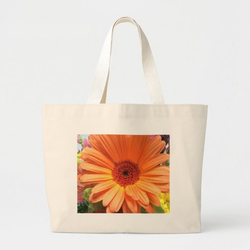 Orange Bouquet Flower Tote Bags