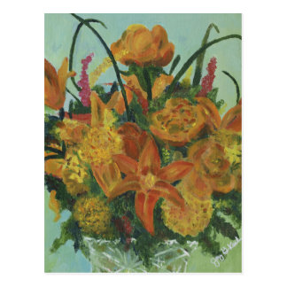 Orange Bouquet Postcard