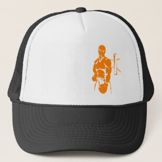 Orange Boxing Trucker Hat
