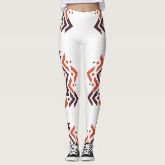Orange Brown Aztec Women's Leggings