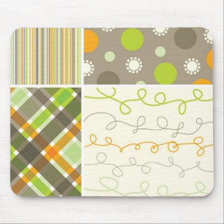 Orange & Brown Combo Pattern Custom  Mousepad