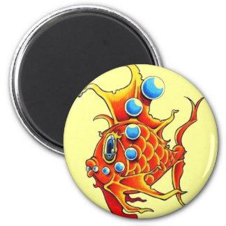 orange bubble fish magnet